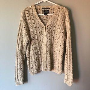 Eddie Bauer LEGEND open knit chunky Cardigan